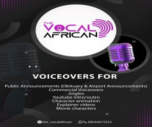 VOICEOVER PERSONNALITY - THE VOCAL AFRICAN