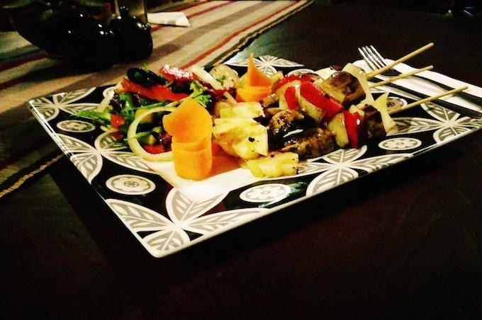 grilled vegetabel kebab