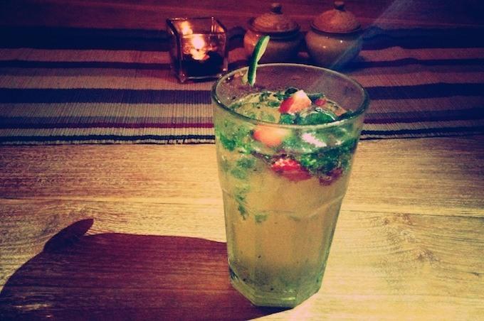 jahoda mint strawberry drink
