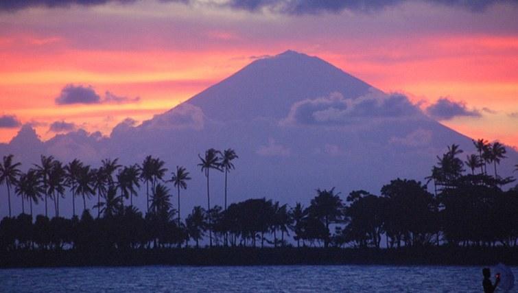 Mount  Agung at sunset