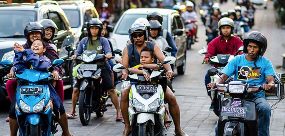The streets of Denpasar City