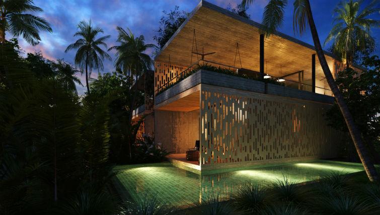 two-story pool and loft villa at BASK Gili Meno