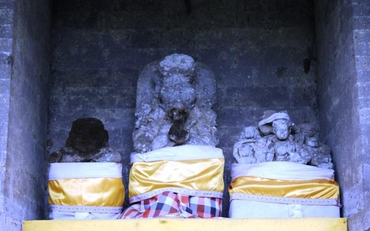 Left to right: Ratu Jempinis, Ganesha, Ratu Brayut.