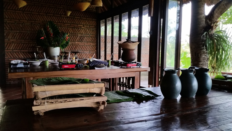 The cookingclass table at Bali Asli Restaurant