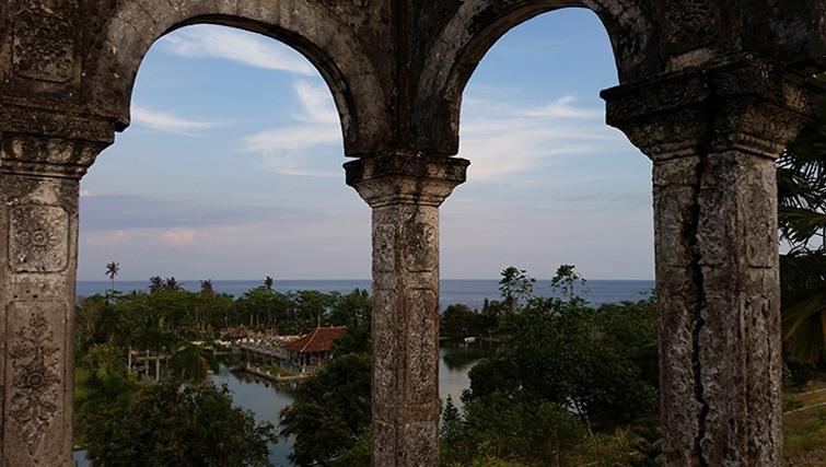 Taman Ujung, seaview panorama