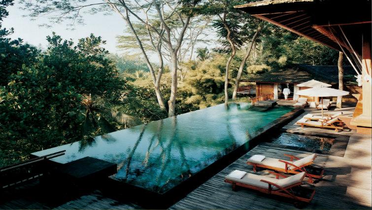 Como Shambala pool in lush green jungle surrounds
