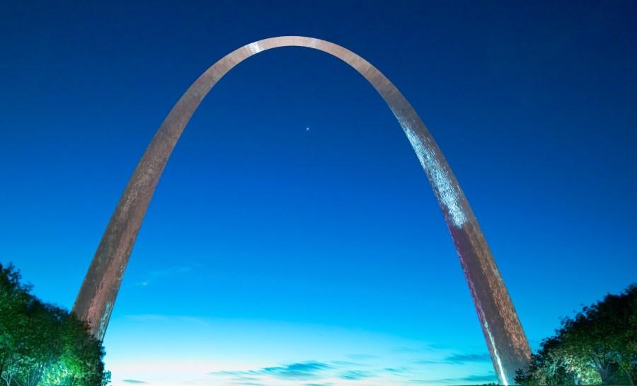 St. Louis Arch at Sunrise