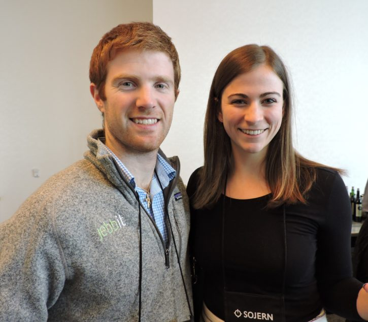 Tom Coburn (left), co-founder and CEO, jebbit; and Kaitlyn Kirkaldy, head of marketing, jebbit