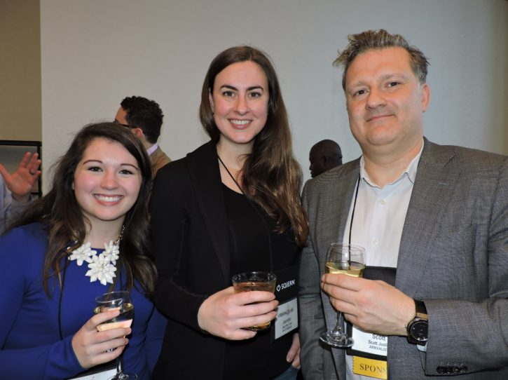 Kelly Shannon, public relations and social media, Pocono Mountains CVB; Jennifer Fink, vice president, Masterminds; and Scott Joslin, senior strategic advisor, Arrivalist