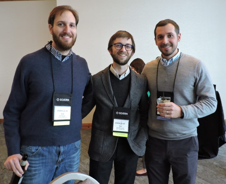 (Left to right) Eric Berger, senior web technology manager, Visit Philadelphia; Dan Wisniewski, senior editor, digital content, Visit Philadelphia; and Ben Hatala, chief operating officer, Clicktivated Video