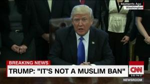 Trump Not a Muslin Ban