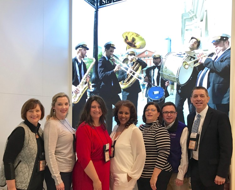 Leslie Straughan, New Orleans CVB; Megan Ryburn, New Orleans Plantation Country -Eugénie Mitchell, Lafayette Convention and Visitors Com - Tracy Francis, Visit Baton Rouge - Doug Bourgeois and Mike Prejean, La Office of Tourism