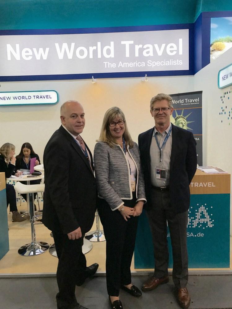 New World Travel's Peter Dorner, Heike Beck and Jeff Karnes