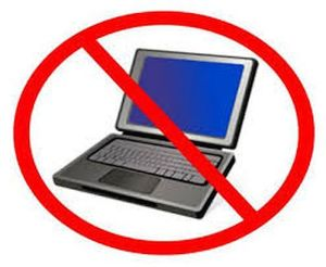 Laptops banned