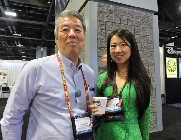 "John Nihara, director of sales, earl enterprises; and Ying ""Springna""Zhao, China representative, Alabama Tourism."