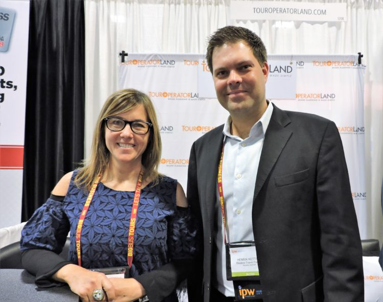 Betsy Cooper, tour operator community manager/marketing, NAJ Group, with Henrik Rousing Ketting, product manager, Risskov Travel Partner, Denmark.