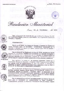 Resolución de Trasplante Higado Nº 936-2011/MINSA