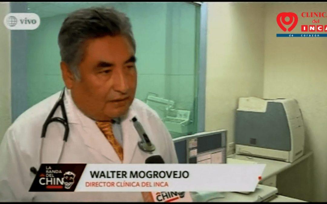 Dr. Walter Mogrovejo en Reportaje en La banda del Chino