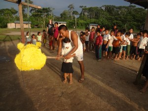 Christmas celebration in the Shuar community of Peas