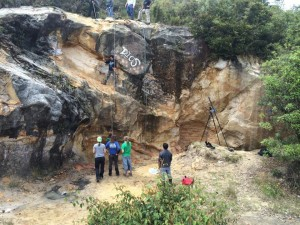 Interns Rock Climbing Colombia
