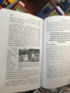 Corban mentioned in Ecuador missions book