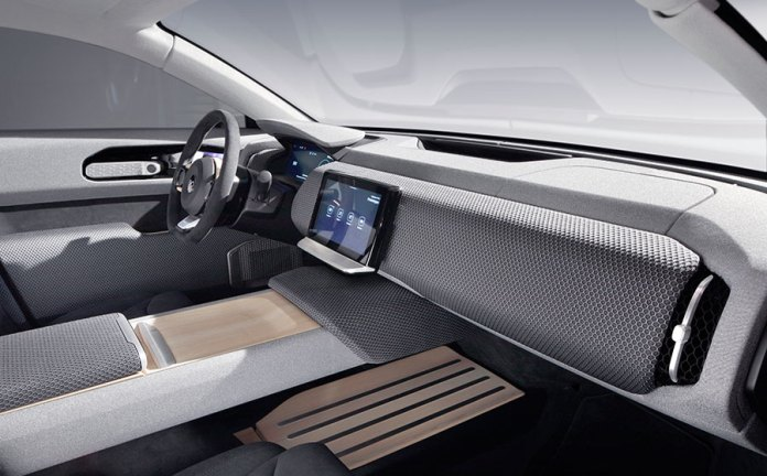 Long range solar car interior