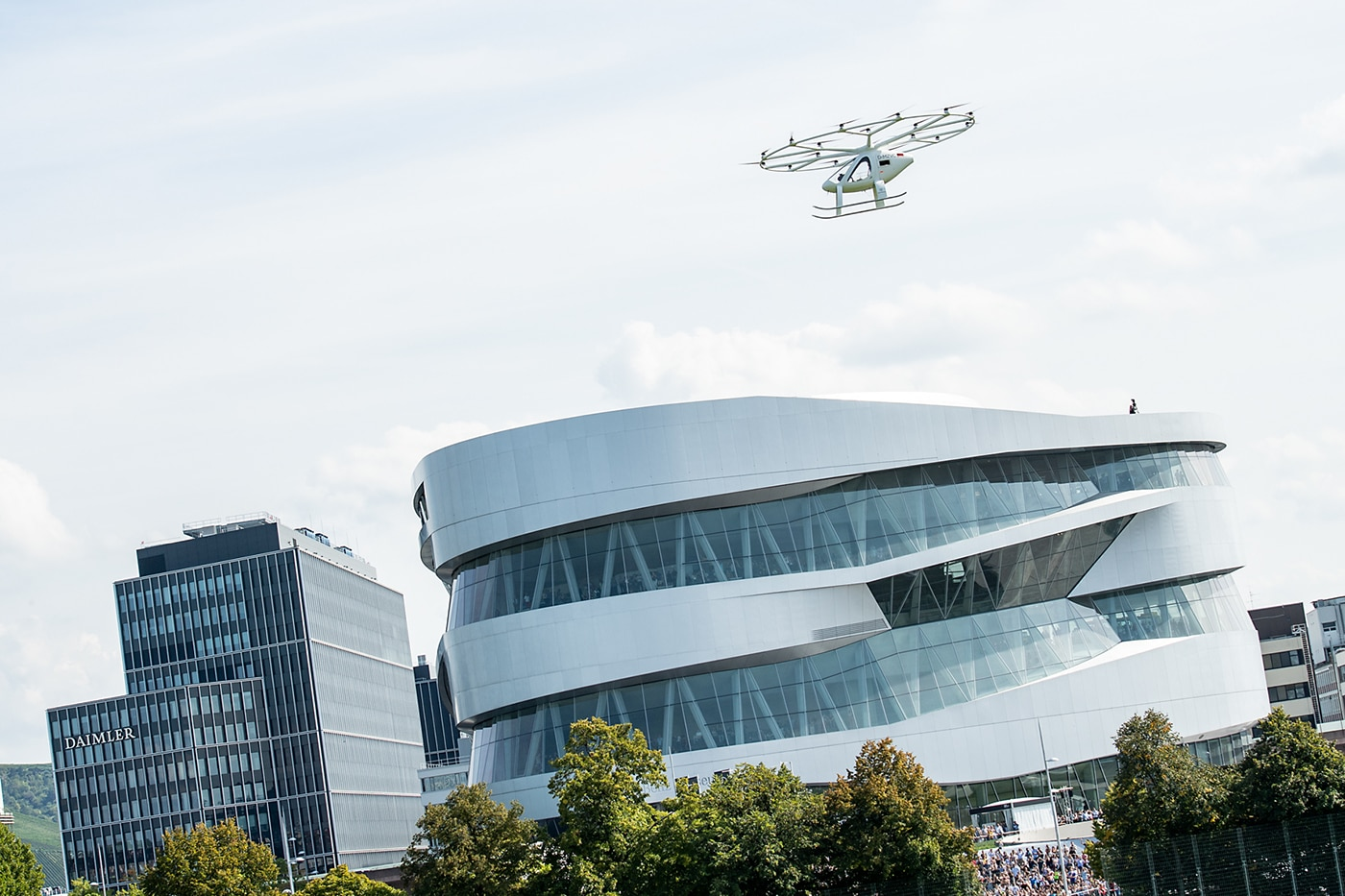 Volocopter successfully made its first European urban flight