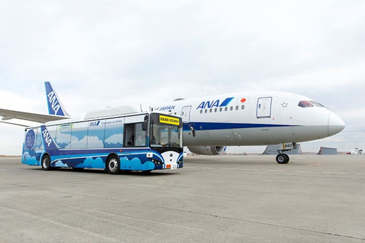 ANA begins testing airport-only self-driving electric bus at Haneda airport