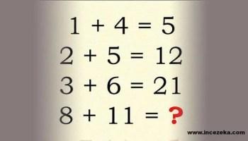 İnce Zeka Soruları… İnce Zekalı mısınız? Kendinizi test etmek ister misiniz? Cevaplarını bildiğimiz sorular fakat cevapları biz size vermeyeceğiz. Akıllı veya ince zekalı olmak doğuştan bir yetenek değil, ne kadar beyin egzersizi yaptığına bağlıdır.