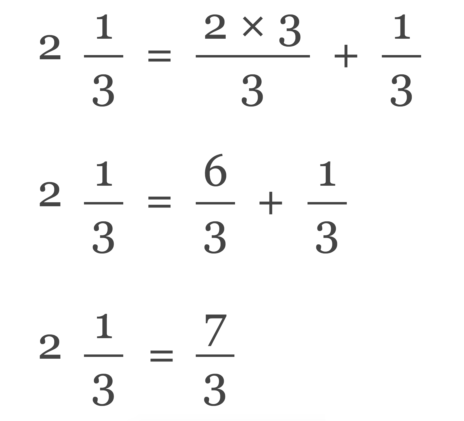 Mixed Number To Fraction Calculator