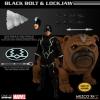 Mezco: Black Bolt & Light-Up Lockjaw 1/12 Figures