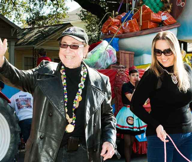 Blaine Kern Sr The Founder Of New Orleans Legendary Mardi Gras Float Maker Blaine Kern Studios And Holly Kern A Sometime Rapper Nearly  Years His