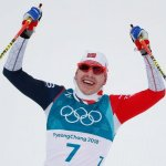 In 2 Words Skiathlete Simen Krueger Explains How He (Literally) Fell on his Face but Won Gold Anyway