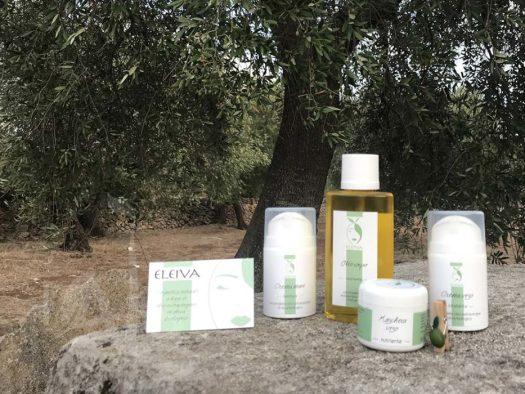 Prodotti Eleiva a base di olio di oliva.