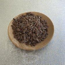 Dettaglio dei semi di lino
