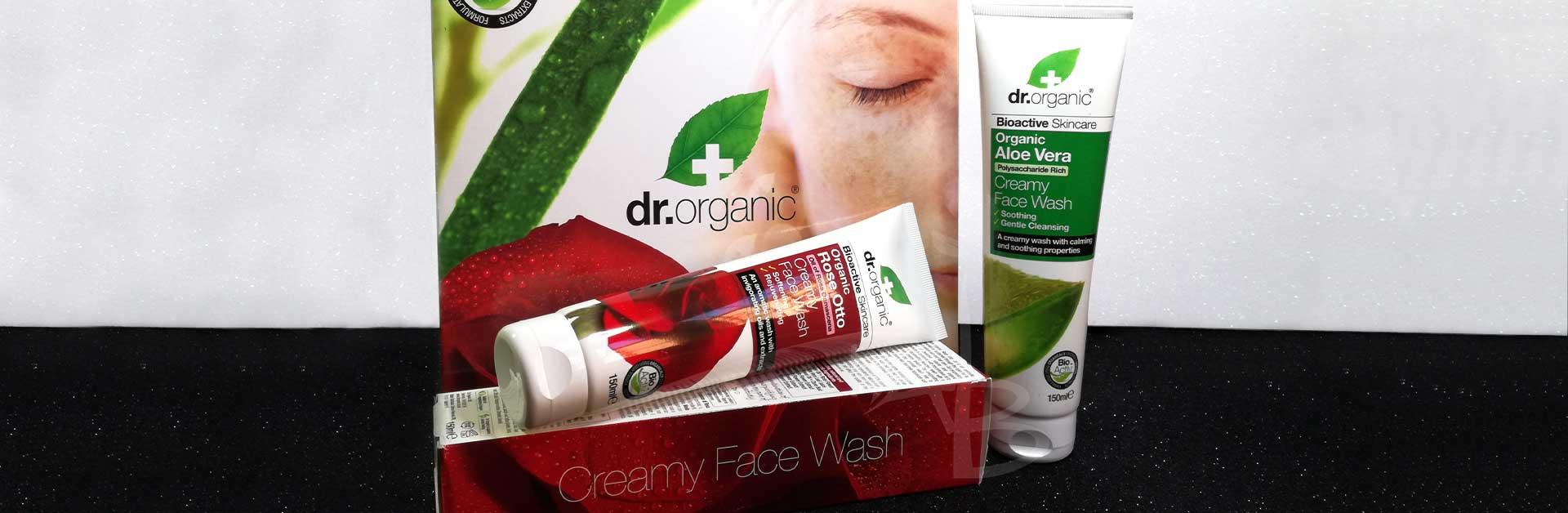 Copertina detergenti viso Face Wash di Dr. Organic