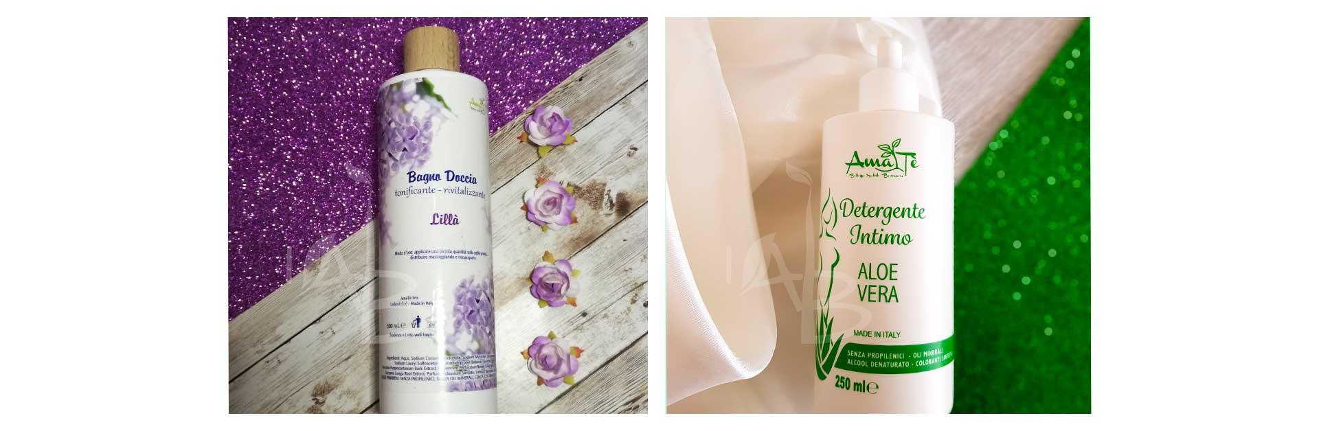 Copertina prodotti per la detergenza corpo di AmaTè