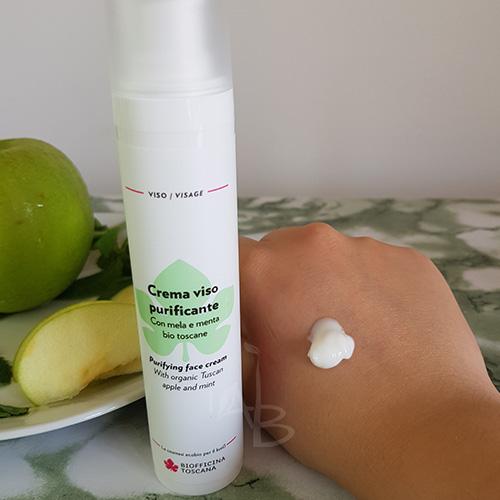 Texture crema viso purificante di Biofficina Toscana
