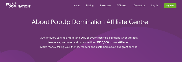 Affiliate Page
