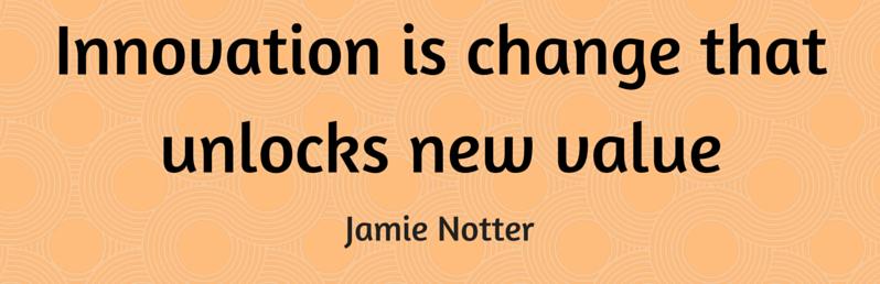 Affliate Marketing - Innovation is change that unlocks new value