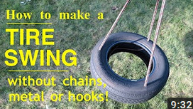 Investing in Your Children | How to Make a TIRE SWING | Safe and Easy
