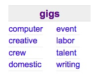 Craigslist Gigs