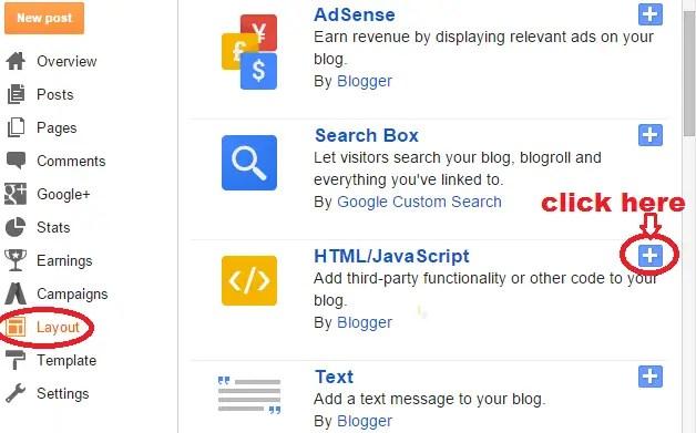 add a widget to blogger