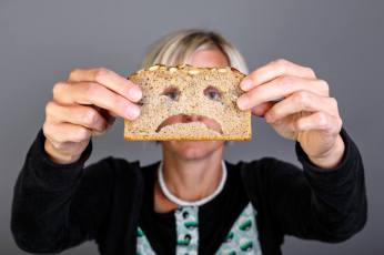 Woman diagnosed with celiac disease