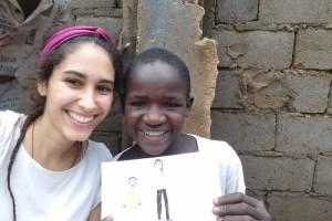 Caterina in soggiorno di condivisione in Camerun, con Incontro fra i Popoli