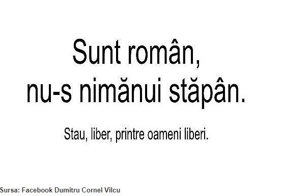 Sunt Român nu-s Nimănui Stăpân