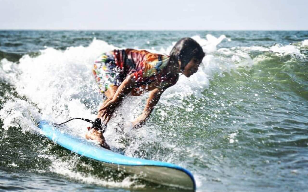 Surfing Activities Along The North Goa Beach