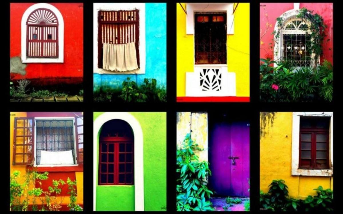 Bright Colours of Fontainhas