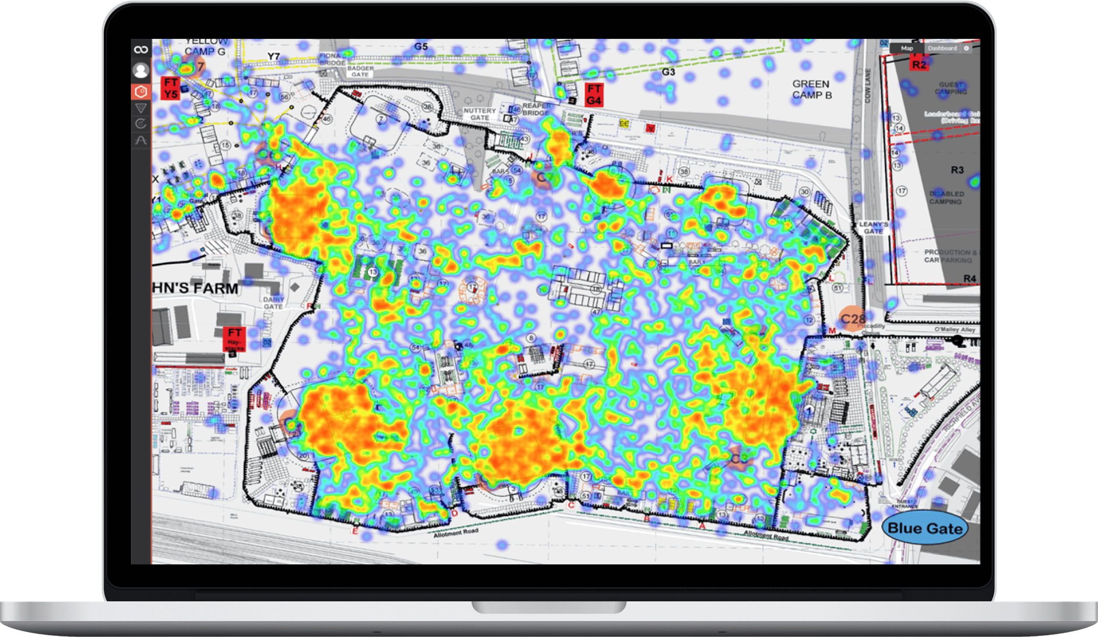 Colocator Business intelligence Geofenced Heatmapping