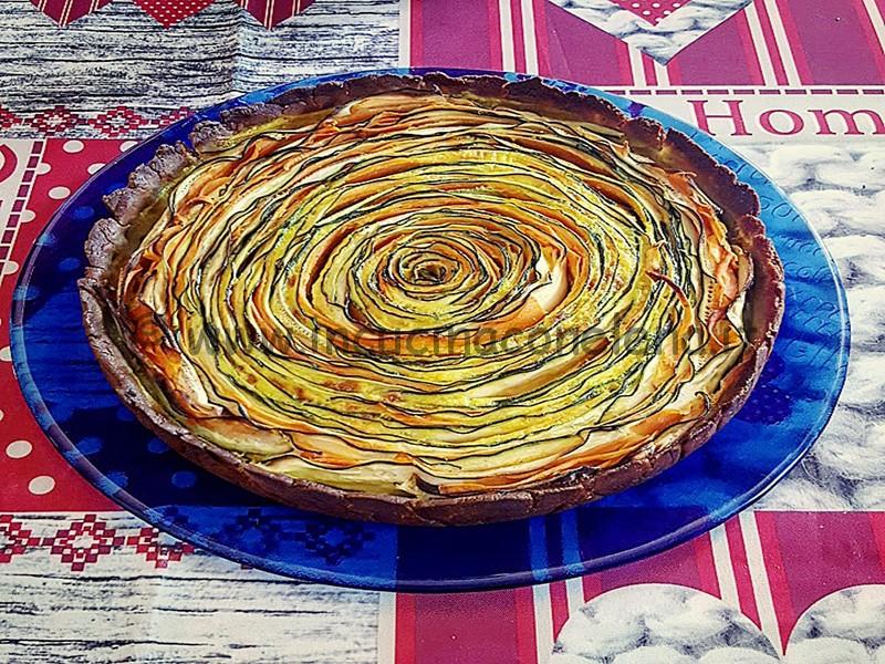 Torta salata spirale di verdure
